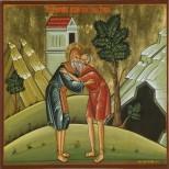 Sfantul Cuvios Antonie afland pe Sfantul Cuvios Pavel Tebeul